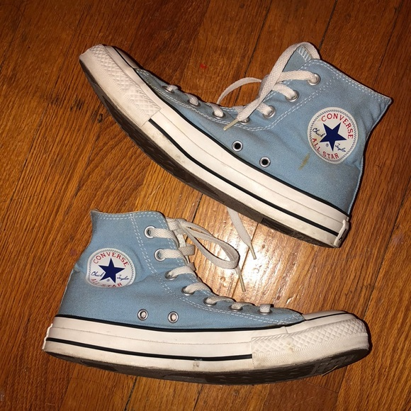 3d51197a0c1d Converse Shoes - Light Blue Jean Converse